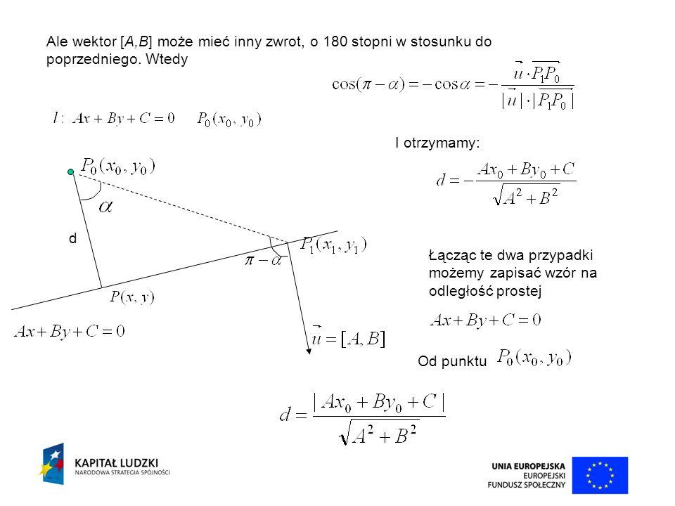 Ale wektor [A,B] może mieć inny zwrot, o 180 stopni w stosunku do poprzedniego. Wtedy